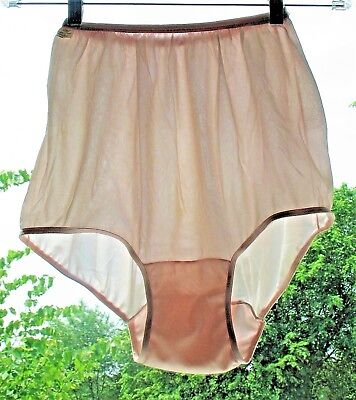 Vintage 60's Panties~MICHELE~NWT~Pink Double Nylon Gusset~7
