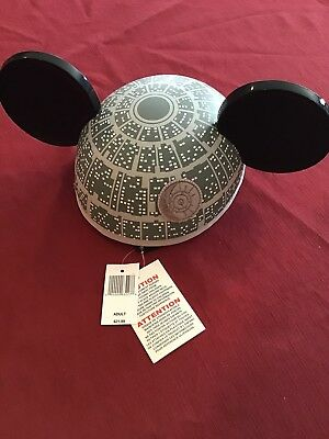 Disney Parks Star Wars Death Star Mickey Mouse Ears Hat Adult New WITH TAGS