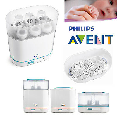 Philips Avent Baby Bottles Electric Steam Steriliser 3-in-1 Fits 6 Bottles