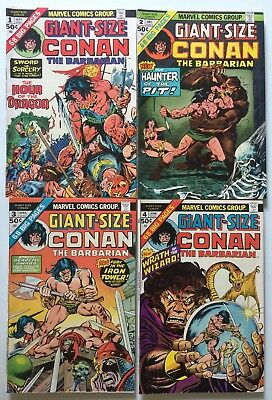 GIANT-SIZE CONAN THE BARBARIAN #1 - 4 (1974) Barry Windsor Smith + Gil Kane!