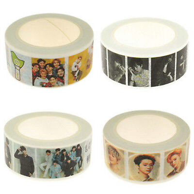 KPOP BTS WANNA ONE GOT7 Maksing DIY Scrapbook Stickers Paper Washi Tape