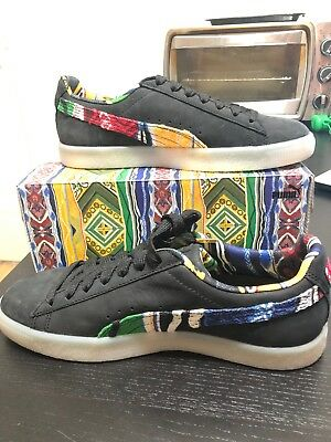 e9fdbd3f1f8 PUMA CLYDE X Coogi 2017 FS Black Team Gold Multi 364908 01 Men ...