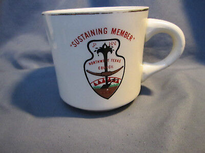 Vintage Boy Scouts OF America Coffee Cup /Mug Northwest Texas Council