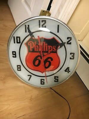 Vintage Philips 66 Pam Light Up Wall Clock
