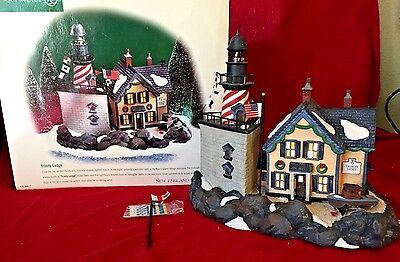 Trinity Ledge Dept 56 New England Village Series 56611 Retired Christmas snow