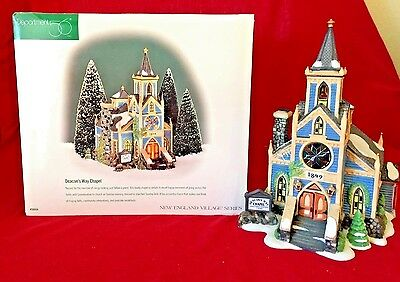 Deacons Way Chapel Dept 56 New England Village 56604 retired Christmas snow