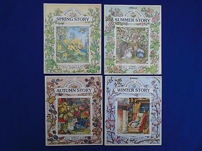 1980's Qty 4 Brambly Hedge 'Four Seasons' Story Books .. All in new condition