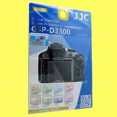 JJC 0.3mm Optical 9H Tempered Glass LCD Screen Protector Nikon D3300 D3200 D3400