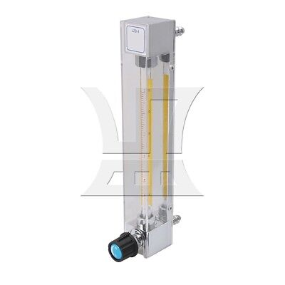 2/5in Water Flow Meter LZB-4 2.5-25L/h with Control Valve Clear