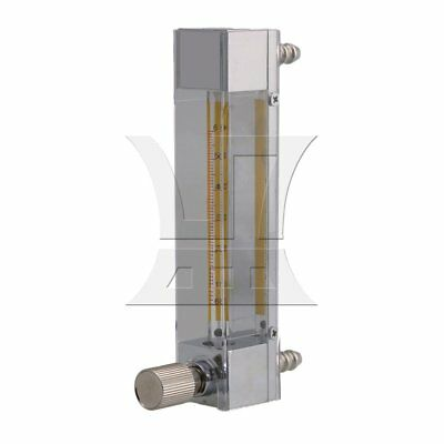 LZB-3 60-600ml/min Plastic Oxygen Gas Flow Meter with Control Valve Clear