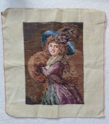 Vintage, Neelepoint Trammed Canvas With Petit Point