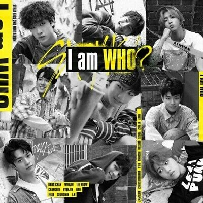 Stray Kids[I am WHO]2nd Mini Album I am Ver CD+Poster+Book+Card+etc+PreItem+Gift