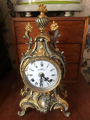 Beautiful Brass Bronze  Mantel Clock