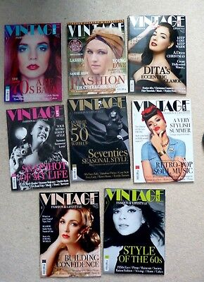 8 X Her Vintage Life Magazines ,fashion And Lifestyle.  2014/2015