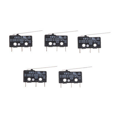 5Pcs Micro Limit Switch Long Lever Arm Subminiature SPDT Snap Action HC