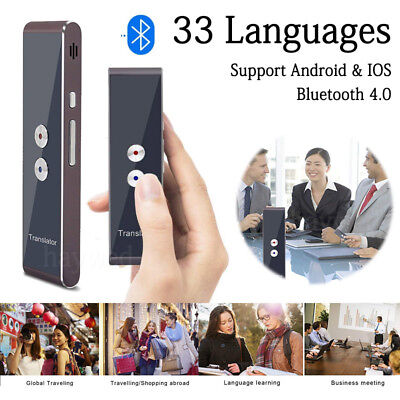 Portable Instant Voice 2-Way Translator 30+ Languages Translation Travel 10M HW