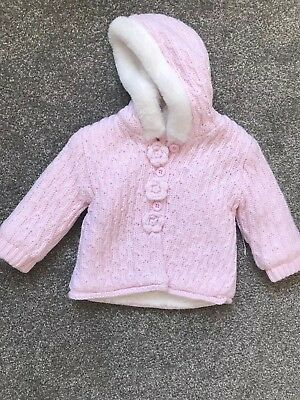 Baby Girls Cardigan Jacket Coat 3-6 Months - New