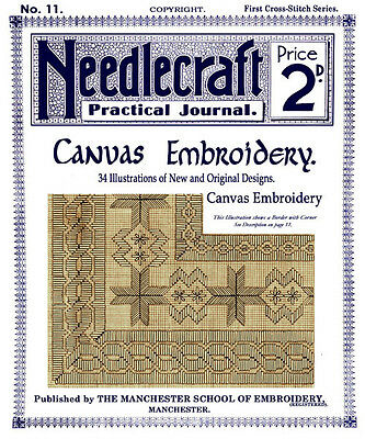 Needlecraft Practical Journal #11 c.1901 Vintage Needlepoint Pattern Book