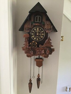 Quartz Cuckoo Clock For Spares Or Repair.
