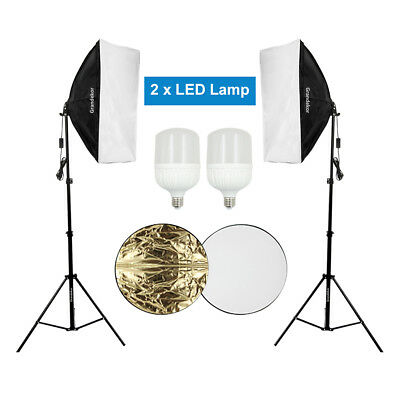 LED Softbox Lighting Kit Photography Photo Studio Continuous Video Light Stand