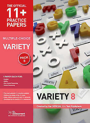 11+ Practice Papers, Variety Pack 8 (multiple Choice): English Test 8, Maths Tes