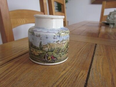 Prattware Pot 'constantinople The Golden Horn' Pratt Ware