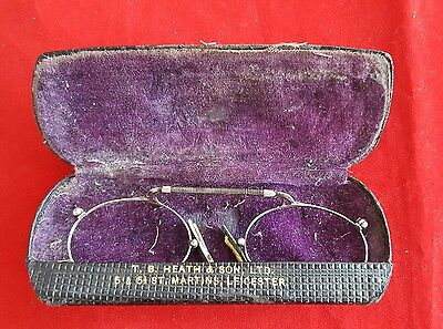 Antique Edwardian Wire Rimmed Spectacles Glasses