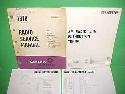 1970 Camaro Chevelle Ss El Camino 442 Firebird Gto Delco Am Radio Service Manual