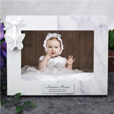 Personalised Photo  Frame - Butterfly - Christening, Baptism, Naming Day