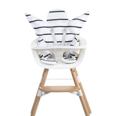 Baby High Chair Universal Cushion Angel Wings White & Blue Striped BNWT RRP £45