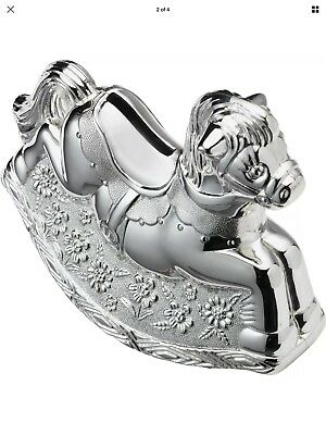 Silver Horse Money Box Christening Gift