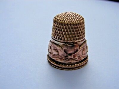 Lily of the Valley Gold Filled Size 9 Thimble Stern Brothers  Double Anchor Mark