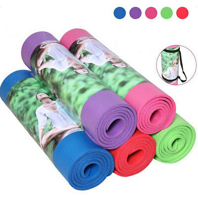8-15MM Exercise Yoga Pad Mat Non Slip Thickened NBR Pilates Fitness Gym Cushion