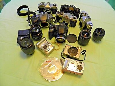 Lot of Cameras And Lenses