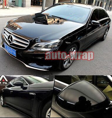 Auto High Glossy Vinyl Car Paint Gloss Film Sheet Wrap Sticker Black Bubble Free