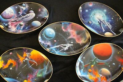 Star Trek Space: Final Frontier Hamilton Collection Oval Plates, Set of 5, Mint