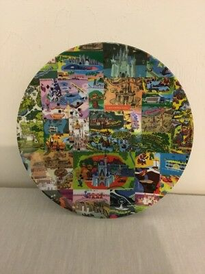 Walt Disney World Vintage Map/Poster Plate New With Tags!