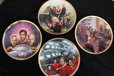 Star Trek Generations Hamilton Collection Plates, Set of 4, Mint