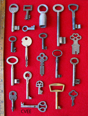 Handpicked Premium Collection Lot Old Antique Vintage Rare Skeleton Flat Keys