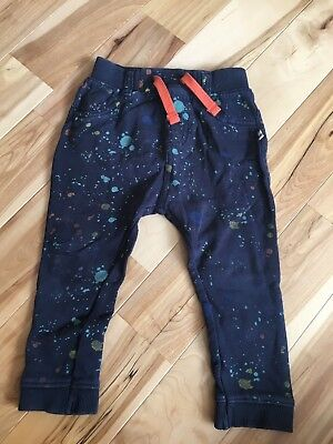 John Lewis Baby Boys Trousers Angel & Rocket Size 18-24 Months Splatter Print