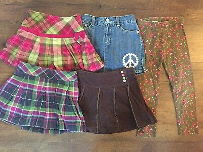 Girls Size 5 Gymboree Fall Lot- Skirts And Leggings