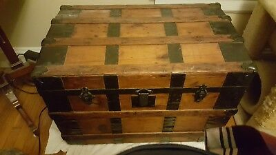 Original 1800's Antique Steamliner Trunk - Excellent Condition