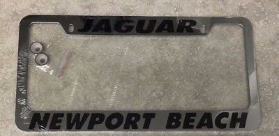 NEW Jaguar Newport Beach Stainless Steel Chrome Metal License Plate Frame