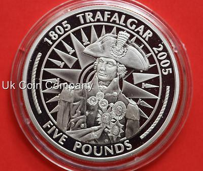 2005 Gibraltar Napoleon Sterling Silver Proof £5 Five Pounds Crown Coin