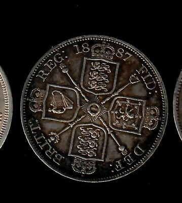 Great Britain Double Florin 1887 VF+