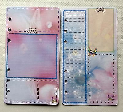 Filofax Personal Planner Paper - Beautiful Candyfloss Note Paper (20 sheets)