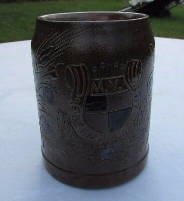 Vintage Musikverein Ebernhahn 1913 Band German Oktoberfest Beer MUG  signed