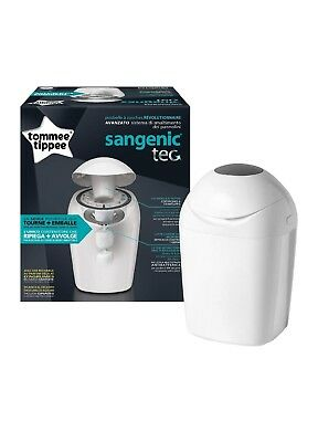 Tommee Tippee Sangenic Tec Nappy Disposal Tub Bin with Refill Cassette - White