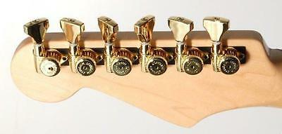 Hipshot® Gold Open Griplock Tuners (6)~UMP Upgrade Kit~18:1~Staggered~Brand New