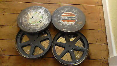 2 x 800ft 16mm CINE FILM REELS AND CANS